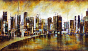 Gold City Triptych
