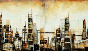 Towers Diptych